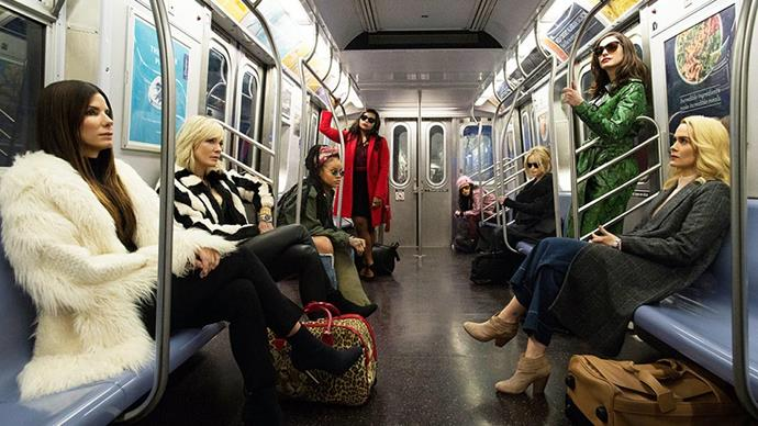***Ocean's Eight* (2018)** <br><br> The all-female remake of <em>Ocean's Eleven</em> was packed with cameos from stars of the fashion world. The film, which stars Cate Blanchett, Sandra Bullock and Rihanna to name a few actresses, told the story of a massive jewellery heist at the annual Met Gala and boasted designer-clad guest appearances from the likes of Kim Kardashian West, Serena Williams, Gigi Hadid and Dakota Fanning.