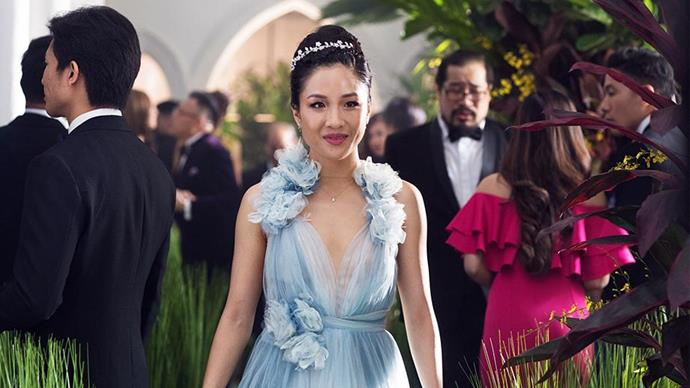 ***Crazy Rich Asians* (2018)** <br><br> The story of some of Asia's wealthiest families and their lavish lifestyles, this blockbuster was always going to feature major couture moments from its star-studded cast—from the Swarovski-encrusted wedding dress worn by fictitious bride Araminta Lee, to the vintage looks donned by Asia's most stylish woman, Astrid Leong (played by Gemma Chan). But despite the high-calibre fashion in the movie, the cast's just as epic off-screen red carpets moments still managed to top the film's costumes.