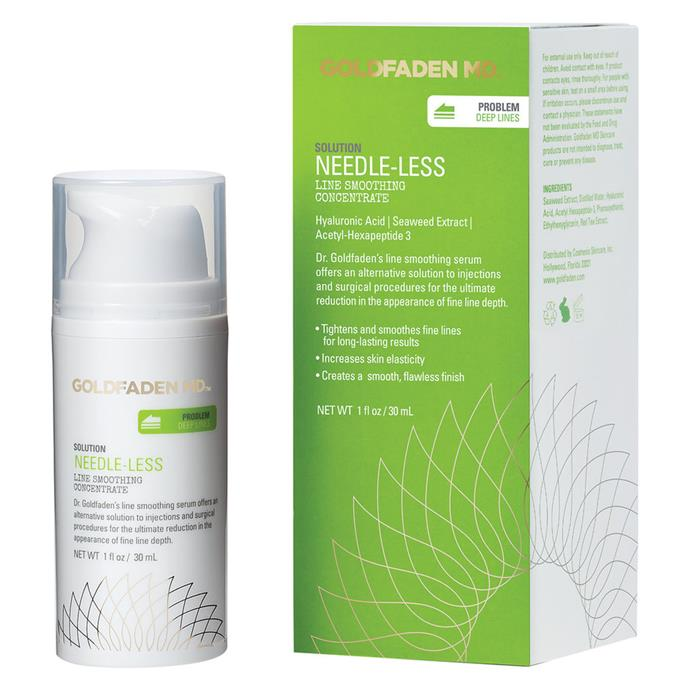 """**Best for deep wrinkles**  Goldfaden MD Needle-Less, $176.00, at [MECCA Cosmetica](https://www.mecca.com.au/goldfaden-md/needle-less/I-021942.html