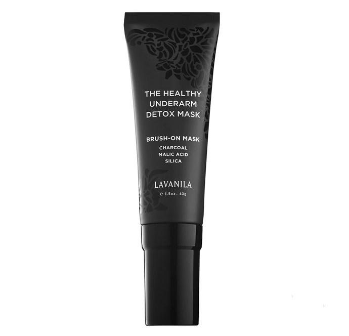 "Lavanila Health Underarm Detox Mask, $36.43, from [Lavanila](https://www.lavanila.com/products/the-healthy-underarm-detox-mask|target=""_blank""|rel=""nofollow"")"