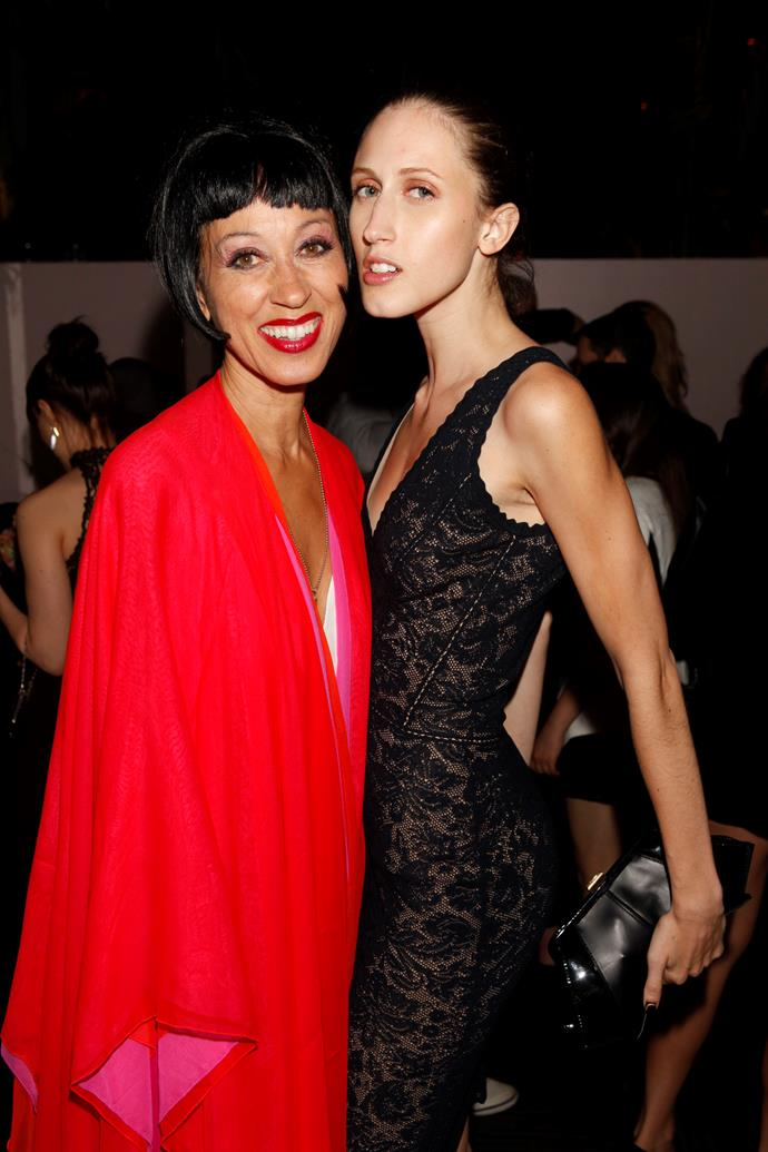 Pat Cleveland with her daughter, Anna Cleveland.