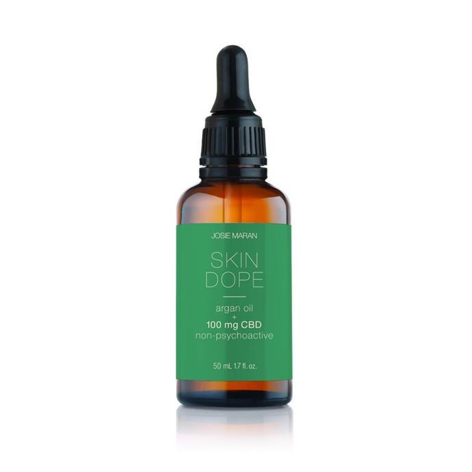 "Josie Maran Skin Dope Argan Oil + 100mg CBD Oil, $110.00 AUD, from [Skin Dope](https://skindope.com/products/best-cbd-oil-skincare|target=""_blank""|rel=""nofollow"")"