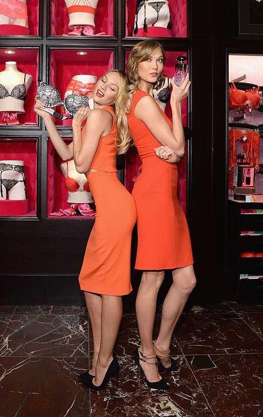With Candice Swanepoel
