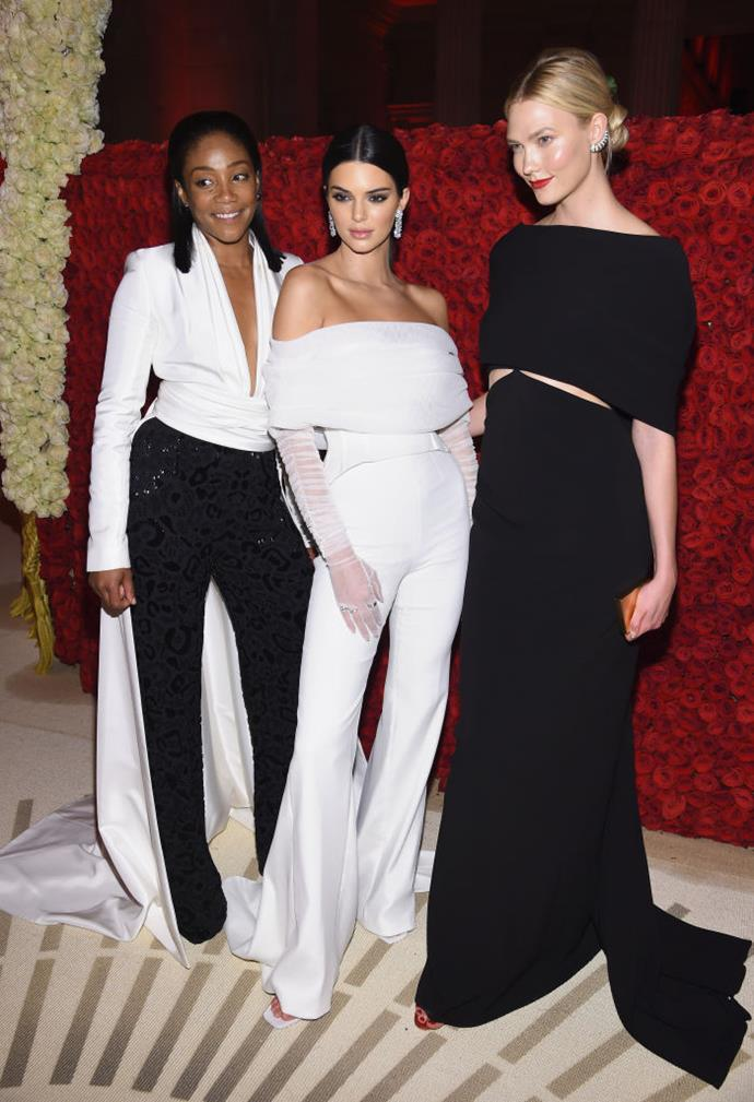 With Tiffany Haddish and Kendall Jenner.