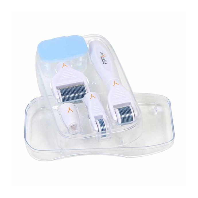 "Lonvitalite Microneedle Derma Roller Face and Body Kit, $139.95 at [MECCA](https://www.mecca.com.au/lonvitalite/microneedle-derma-roller-face-and-body-kit/I-037552.html|target=""_blank""