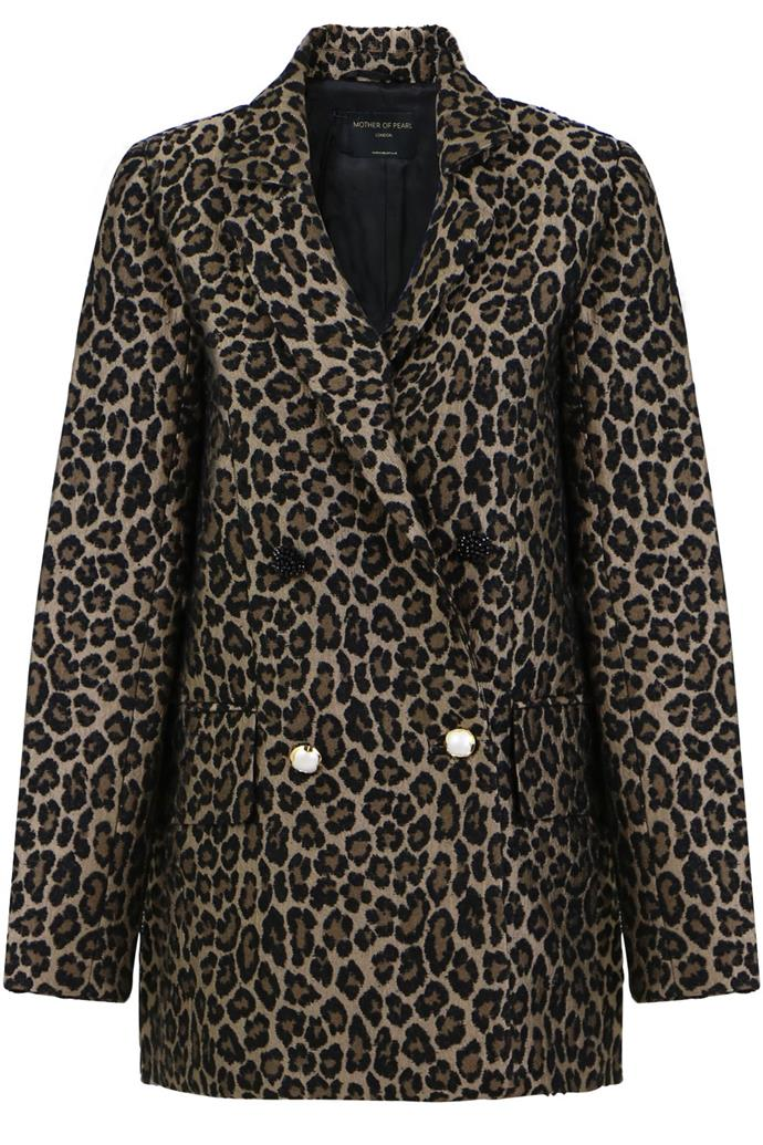 "**Buy:** Leopard Print Blazer by Mother Of Pearl, $1,165 at [Parlour X](https://www.parlourx.com/francis-tailored-jacket-print.html|target=""_blank""|rel=""nofollow"")   Utility Body Shirt, $375 at [ZIMMERMANN](https://www.zimmermannwear.com/utility-body-shirt-leopard.html?ranMID=42679&ranEAID=TnL5HPStwNw&ranSiteID=TnL5HPStwNw-pVaOXI_RL.wWoQTBdepkvQ|target=""_blank""|rel=""nofollow"")"