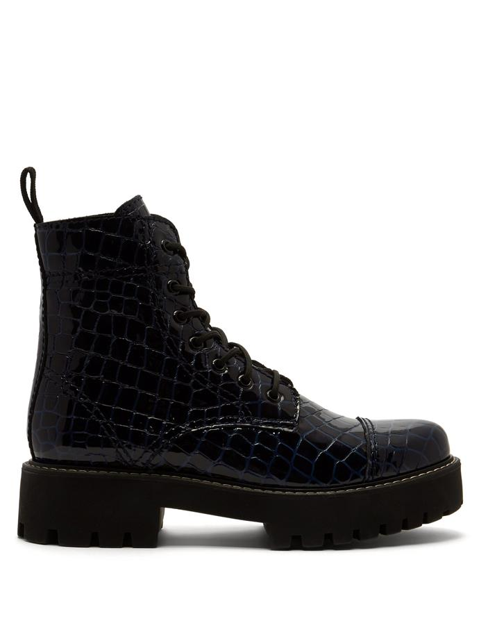 """**Buy:** Crocodile-Effect Leather Boots by Alexa Chung, $546 at [MATCHESFASHION](https://www.matchesfashion.com/au/products/Alexachung-Crocodile-effect-leather-boots-1251234