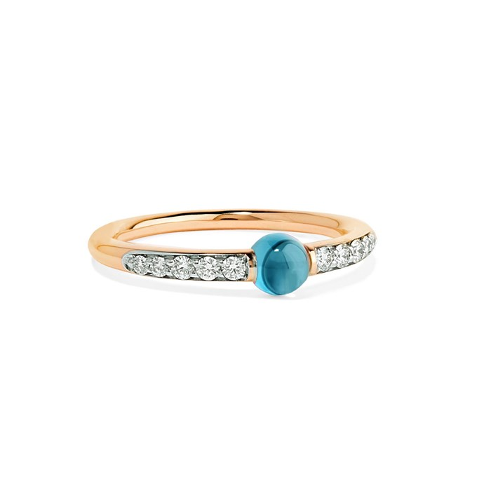 "'M'ama non M'ama' ring by Pomellato, $2,884 at [NET-A-PORTER](https://www.net-a-porter.com/au/en/product/1120496/pomellato/m-ama-non-m-ama-18-karat-rose-gold--diamond-and-topaz-ring|target=""_blank""|rel=""nofollow"")."