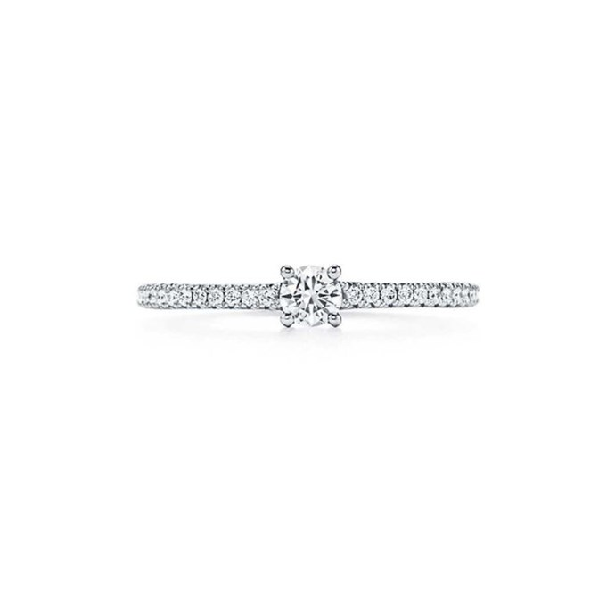 """Round ring, $3,950 at [Tiffany & Co.](https://www.tiffany.com.au/jewelry/rings/tiffany-novo-round-ring-GRP10522/