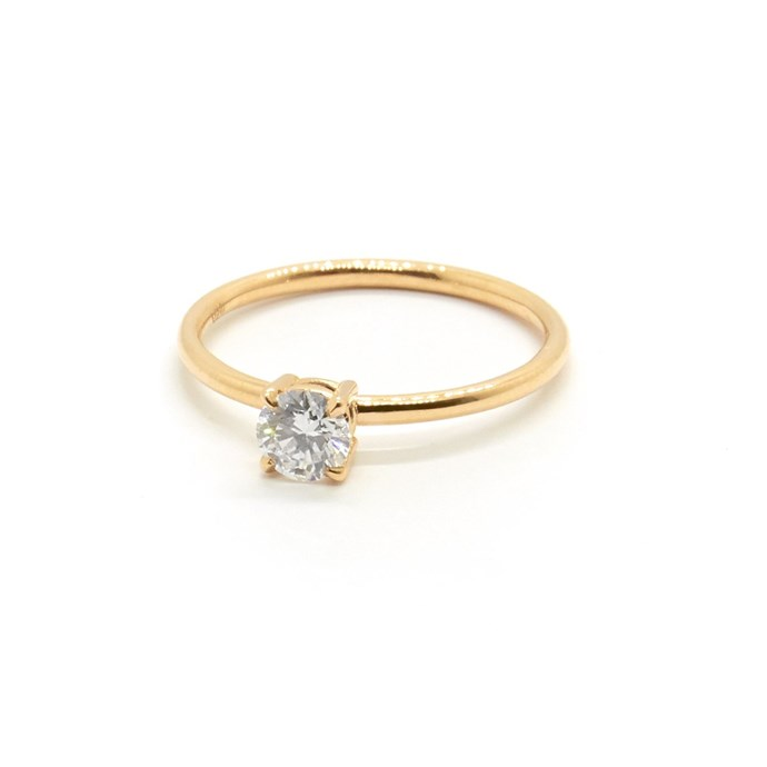 "Petite Precious diamond ring, $3,390 at [Natalie Marie Jewellery](https://www.nataliemariejewellery.com/collections/rings/products/petite-precious-diamond-solitaire|target=""_blank""|rel=""nofollow"")."