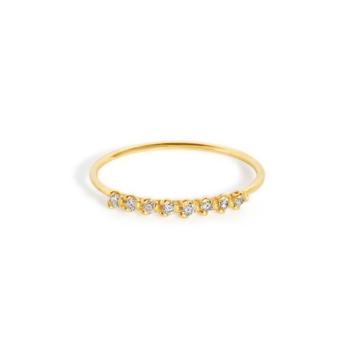 "Petal ring, $780 at [Sarah & Sebastian](https://www.sarahandsebastian.com/products/petal-ring|target=""_blank""|rel=""nofollow"")."