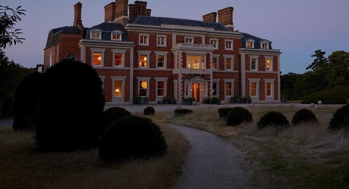 "The exterior of the estate.<br><br> *Image via [Heckfield Place](https://www.heckfieldplace.com/|target=""_blank""