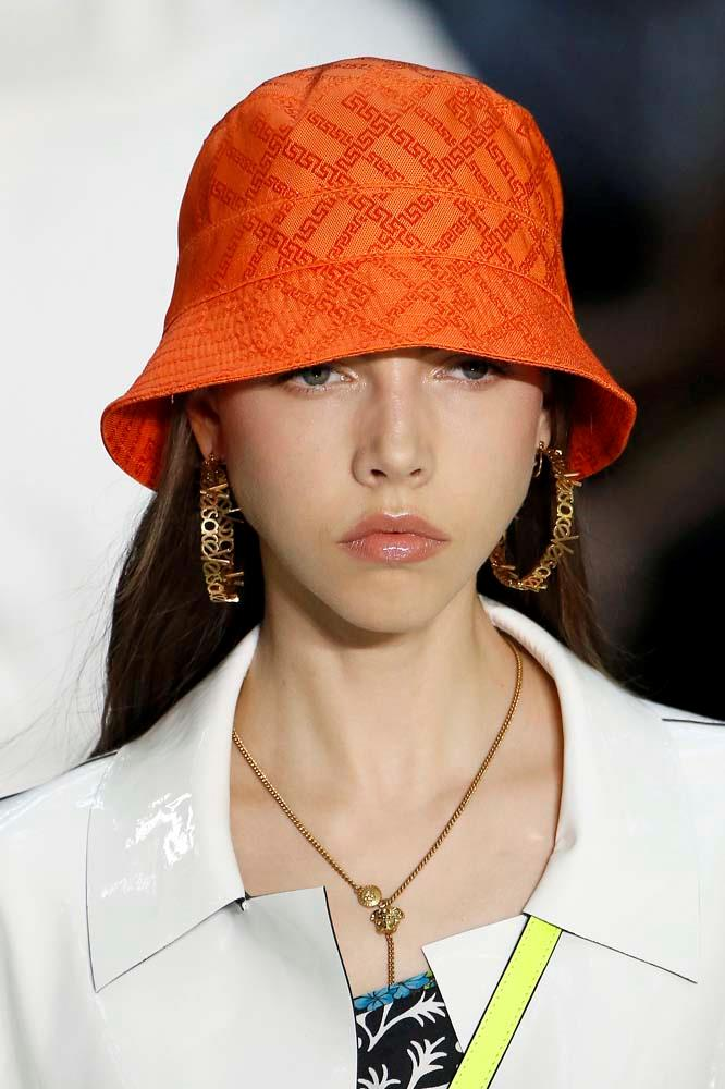 ***BUCKET HATS***<br><br> When hype beasts and high fashion collide, you get bucket hats. Printed with Prada logos or Burberry checks, we'll see these by the bucketload.<br><br> *Pictured: Versace Men's spring/summer '19.*