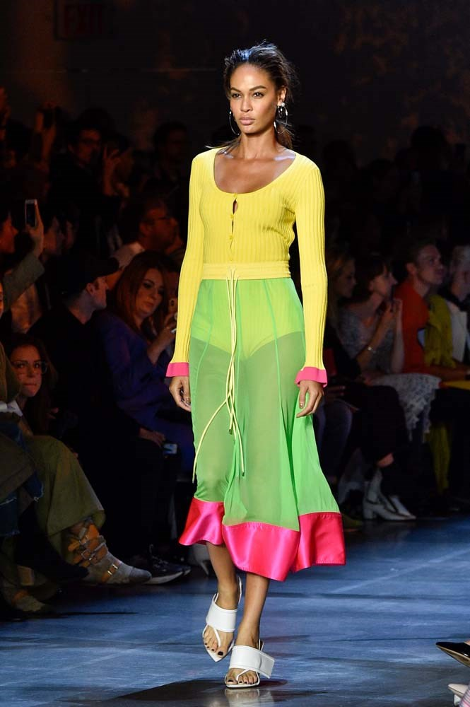 ***NEON***<br><br> Glow-in-the-dark or not, you'll be spotting some of this season's hottest trend—neon—on festival-goers.<br><br> *Pictured: Prabal Gurung spring/summer '19.*