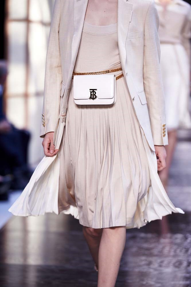 ***HANDS-FREE BAGS***<br><br> Belt-bags reigned supreme in 2018 and you'll probably see your fair-share of them at Coachella, too. But joining them will be utility belts, belt boots and arm-bands. Because dancing is more fun when you're not holding anything, right?<br><br> *Pictured: Burberry spring/summer '19.*