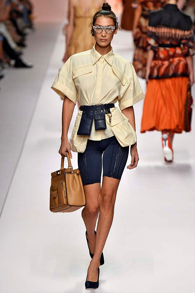 ***BIKE SHORTS***<br><br> After getting their Kardashian and Jenner ticks of approval, bike shorts may even replace the denim short. Watch this space.<br><br> *Pictured: Fendi spring/summer '19.*