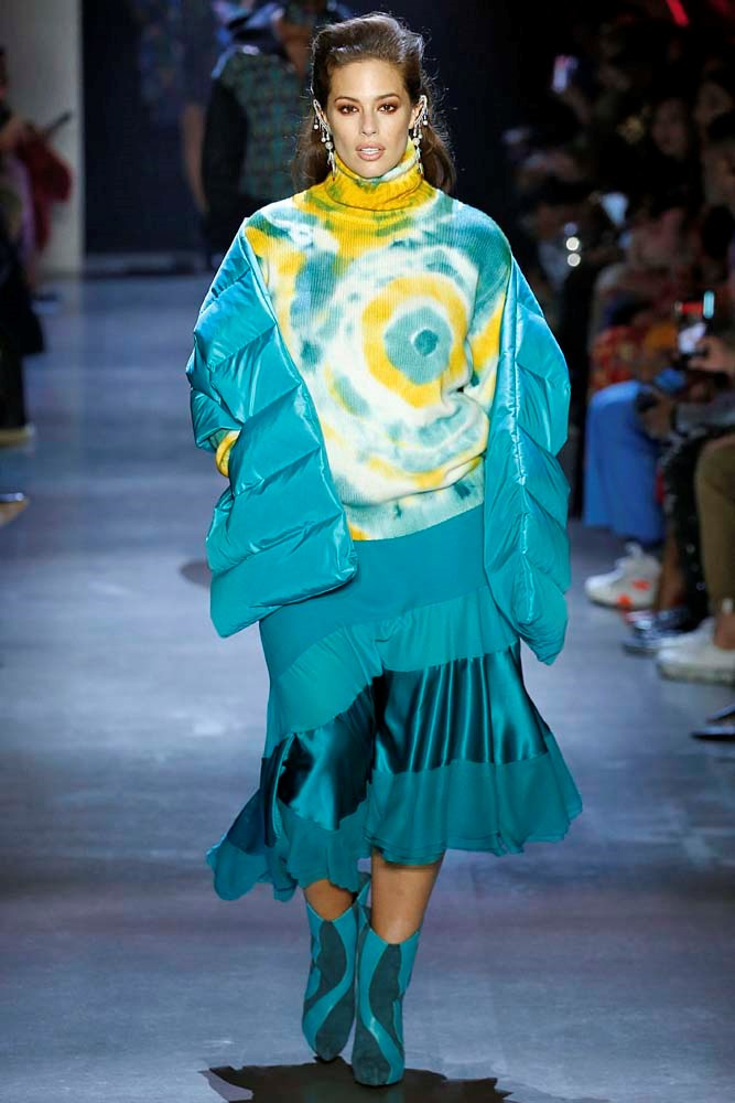 ***TIE DYE***<br><bR> Tie dye was a staple at music festivals in the '60s and '70s and you'll see it again in 2019. After dominating runways and street style, we can expect this psychedelic print to reach California, too.<br><br> *Pictured: Saint Laurent autumn/winter '19/'20.*