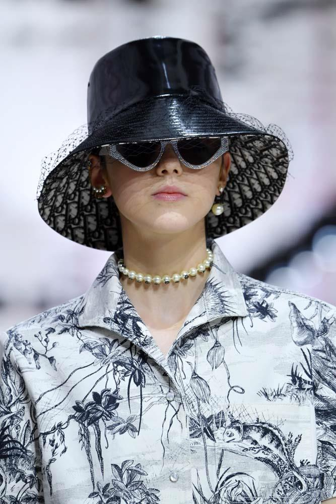 ***BUCKET HATS***<br><br> When hype beasts and high fashion collide, you get bucket hats. Printed with Prada logos or Burberry checks, we'll see these by the bucketload.<br><br> *Pictured: Christian Dior autumn/winter '19.*