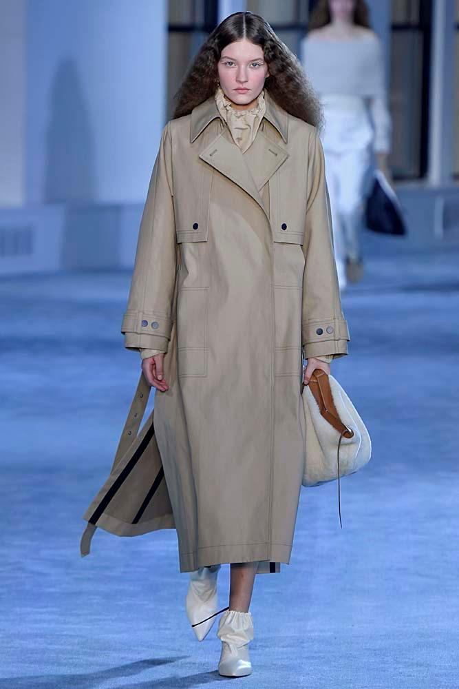 "***The Beige Trench Coat***<br><br> It would be an understatement to say the trench coat isn't new—in fact, it's what many refer to when they think of 'coats.' But this season, the key is the perfect shade of wearable beige (it is the [colour of the season](https://www.harpersbazaar.com.au/fashion/beige-fashion-trend-2019-18317|target=""_blank""), after all). Opt for military details like storm flaps, epaulettes and a Napoleon collar with wide lapels to keep things structured.<br><Br> *Pictured: 3.1 Phillip Lim autumn/winter '19.*"