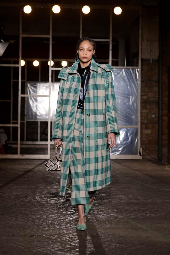 ***An Oversized Check Coat***<br><br> *Pictured: Rejina Pyo autumn/winter '19.*