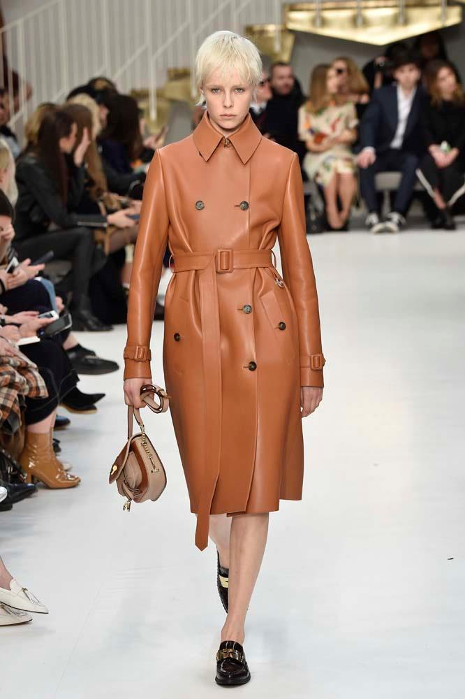 ***The Well-Fitted Leather Coat***<br><br> *Pictured: Tod's autumn/winter '19.*