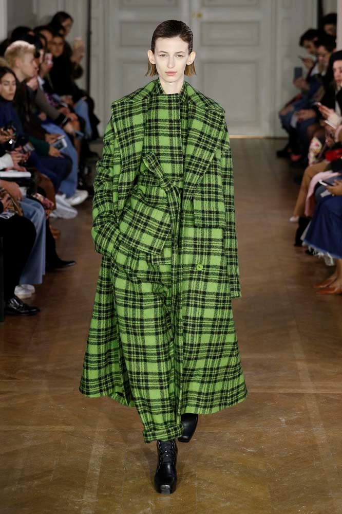***An Oversized Check Coat***<br><br> *Pictured: Christian Wijnants autumn/winter '19.*