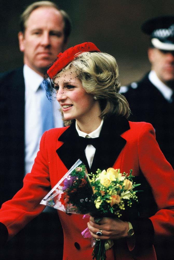 Visiting The Royal School for the Blind in December 1984.