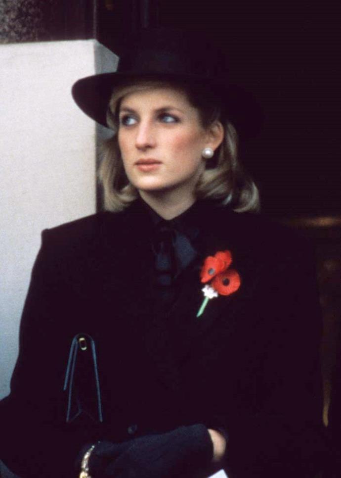 At the Remembrance Ceremony, in November 1984.