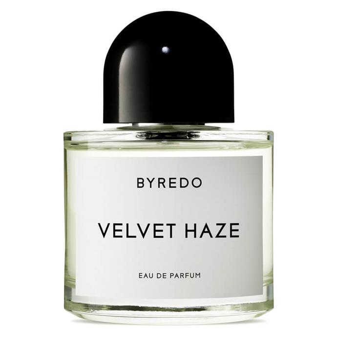 "***Velvet Haze EDP by Byredo, $192 - $297 from [MECCA](https://www.mecca.com.au/byredo/velvet-haze-edp/V-028429.html|target=""_blank""