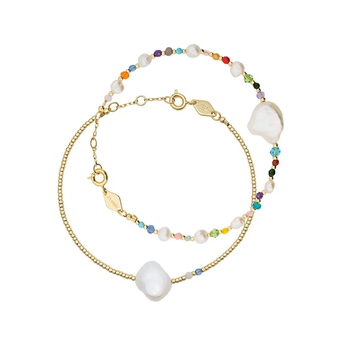 """""""My Anni Lu bracelets are the perfect combo of whimsical, pretty and chic. And they're so light and dainty, I forget I have them on (even though I haven't taken them off since they day they arrived). My favourite is the beaded pearl bracelet."""" – Janna Johnson O'Toole, Beauty & Wellness Director.<br><br> 'Rock and Sea' bracelet, $189, and 'Baroque pearl' bracelet, $104, both by [Anni Lu at Farfetch](https://www.farfetch.com/au/shopping/women/anni-lu/items.aspx