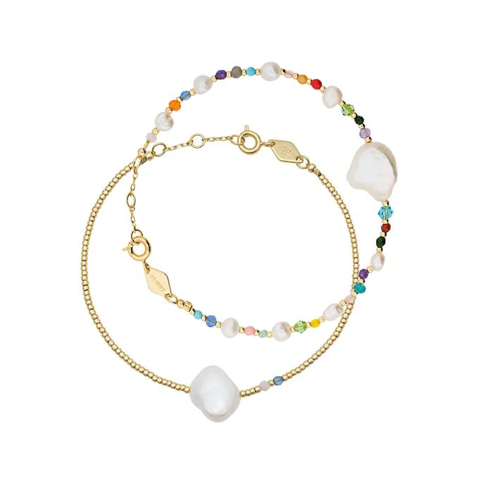 """My Anni Lu bracelets are the perfect combo of whimsical, pretty and chic. And they're so light and dainty, I forget I have them on (even though I haven't taken them off since they day they arrived). My favourite is the beaded pearl bracelet."" – Janna Johnson O'Toole, Beauty & Wellness Director.<br><br> 'Rock and Sea' bracelet, $189, and 'Baroque pearl' bracelet, $104, both by [Anni Lu at Farfetch](https://www.farfetch.com/au/shopping/women/anni-lu/items.aspx