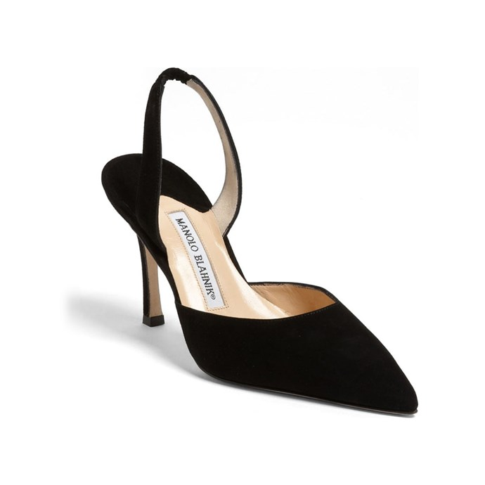 """""""My black Manolo Blahnik slingbacks! I have worn these so much that the sole has been replaced twice (how's that for cost per wear?)—the perfect complement to any outfit, it dresses up jeans and a blazer, makes a LBD more sophisticated."""" – Samantha Wong, Market Editor.<bR><Br> Slingbacks, $1,430 at [Manolo Blahnik](https://www.manoloblahnik.com/as/carolyne-17947.html