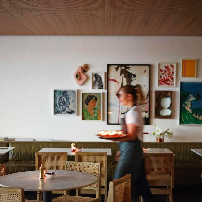 """**[Bills](https://www.bills.com.au/ target=""""_blank"""" rel=""""nofollow"""")** <br><br> **Location:** Darlinghurst, Surry Hills and Bondi <br><br> A bona-fide Sydney institution, Bills is known just as much for its chic decor as it is its famous hotcakes. Check out any one of its three Sydney locations for the kind of interiors inspo you usually get in a magazine. <br><br> [@billsaustralia](https://www.instagram.com/billsaustralia/?hl=en target=""""_blank"""" rel=""""nofollow"""")"""