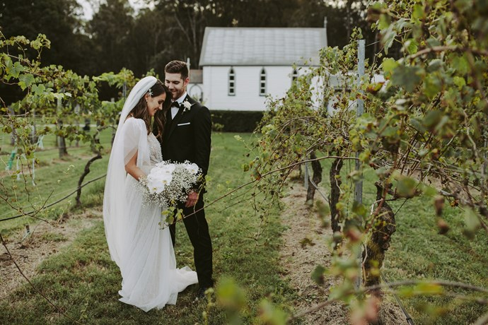 **On the vision for the day:** An elegant garden party amongst the vines.