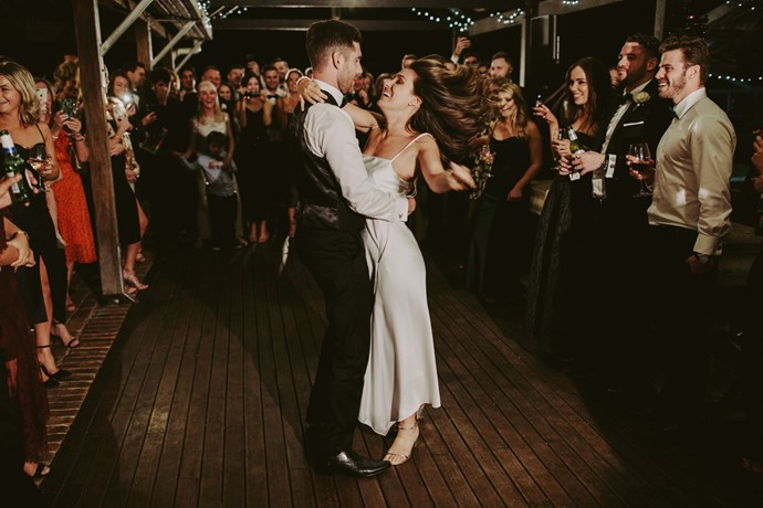**On the first dance song:** We have Benny from Crows Nest Dance Centre to thank for turning Josh and I into amateur dancers. He choreographed an up beat dance to' Signed Sealed Delivered' by Stevie Wonder—we had so much fun.
