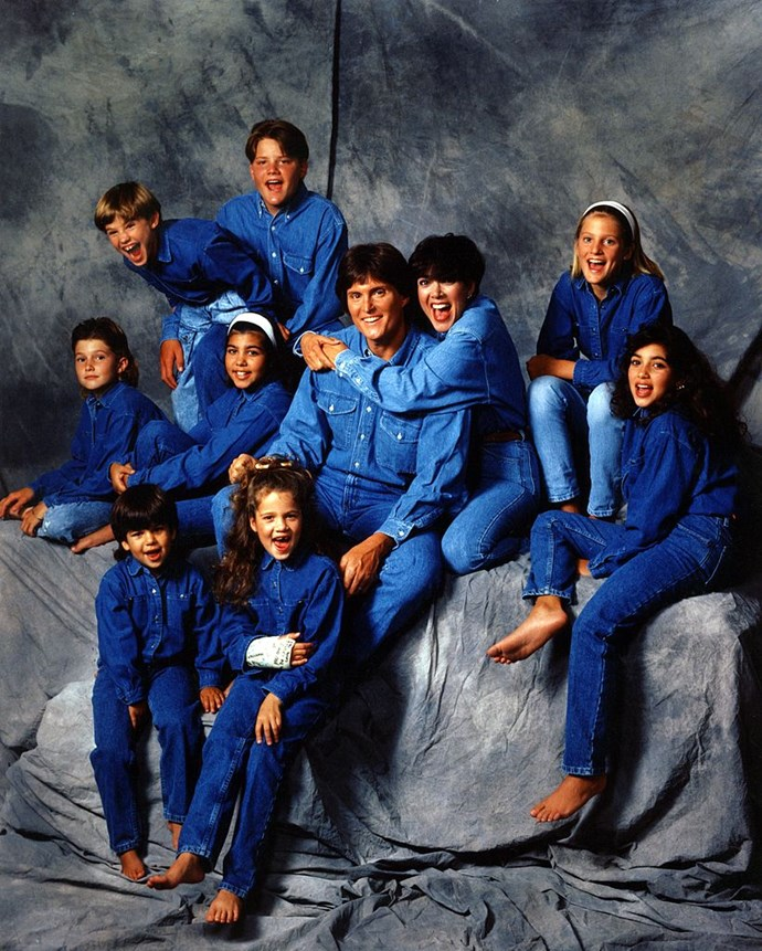 Rocking a Canadian tuxedo in a 1991 family photo/