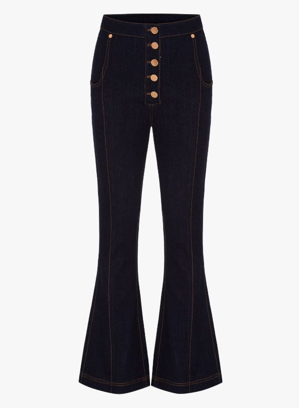"""**THE CROPPED FLARE** <br><br> **Shop:** Bloomsbury jeans, $260, at [Alice McCall](https://www.alicemccall.com.au/collections/bottoms/products/bloomsbury-jeans-indigo