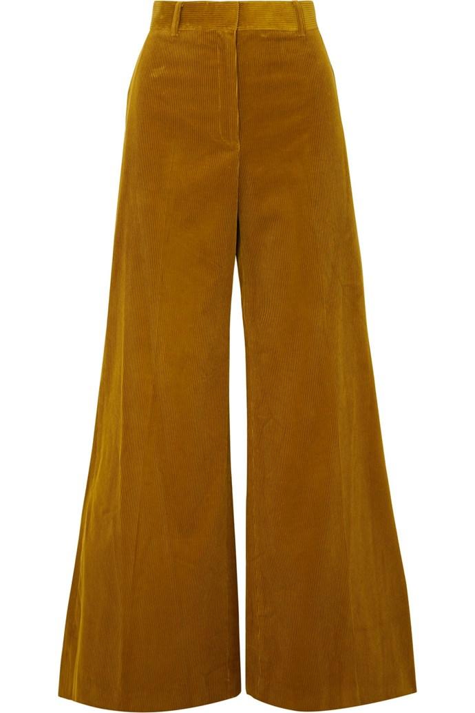 "**THE CORDUROY FLARE** <br><br> **Shop:** Bella Freud Bianca pants, $574.55, at [NET-A-PORTER](https://www.net-a-porter.com/au/en/product/1069747|target=""_blank""|rel=""nofollow"")."