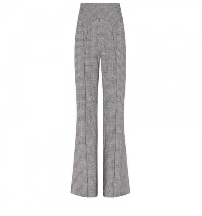 "**THE TAILORED FLARE** <br><br> **Shop:** Valo Trouser, $699, at [Camilla and Marc](https://www.camillaandmarc.com/valo-trouser-barney-check.html#|target=""_blank""