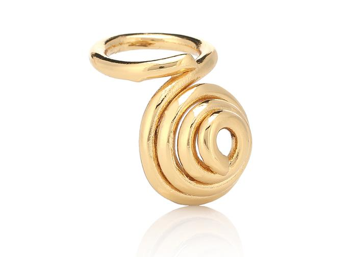 "Ring by Tohum Design, $455 at [My Theresa](https://www.mytheresa.com/en-au/tohum-design-dunya-gaya-22-kt-gold-plated-brass-1206511.html?catref=category#&gid=1&pid=1|target=""_blank""