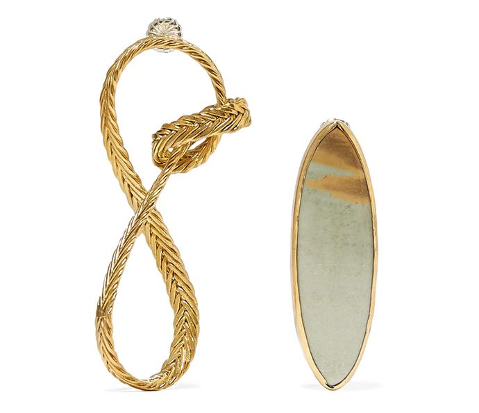 "Earrings by STVDIO, $410.65 at [Net-a-Porter](https://www.net-a-porter.com/au/en/product/1136414/STVDIO/regina-gold-tone-jasper-earrings-|target=""_blank""