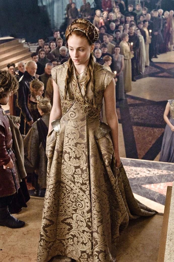 Sansa Stark in season three.