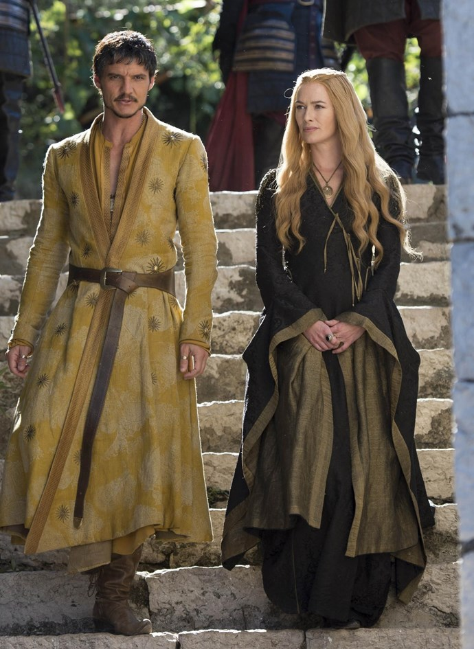 Oberyn Martell and Cersei Lannister in season four.