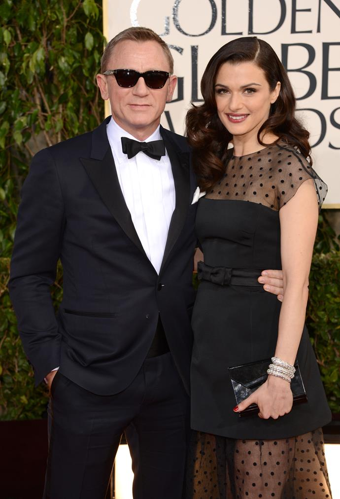 """**Daniel Craig and Rachel Weisz** <br><br> The James Bond star and the Oscar-winning actress have been together since 2010, but spotting them on the red carpet together is a near-impossible feat. They got married a mere one year after their first meeting, and they welcomed a daughter together in September 2018. Weisz told *The Sun* that career talk is off the table for her and Craig. """"There is nothing worse than two actors getting together and talking about acting. It's like the end—it's the worst,"""" she said."""