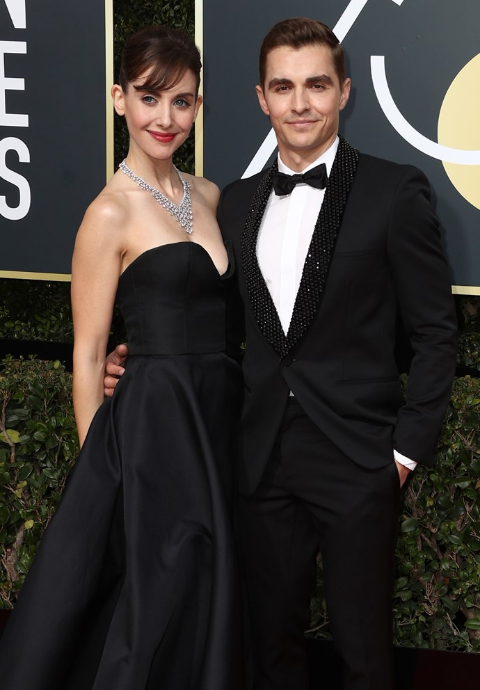 """**Alison Brie and Dave Franco** <br><Br> Brie and Franco tied the knot in 2017, six years after meeting at a Mardi Gras celebration in New Orleans. They didn't make their first public appearance until 2015 and got engaged shortly thereafter, with Brie admitting marriage wasn't always high on her priority list. """"I never wanted to get married,"""" she said. """"I was just like, 'Well that's not my path in life, because I'm choosing this crazy lifestyle. Then, you know, I fell in love. So, blah blah blah, amazing. Acting is fulfilling, but it's also not the only thing."""""""