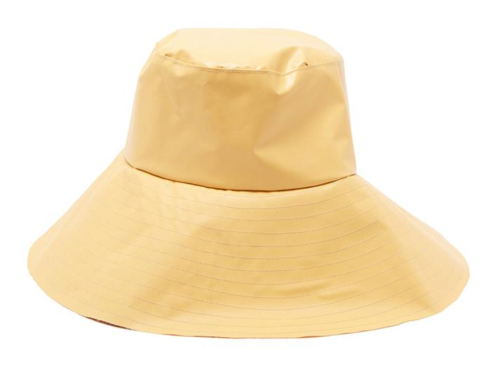 "Hat by Reinhard Plank, $265 at [MATCHESFASHION.COM](https://www.matchesfashion.com/au/products/Reinhard-Plank-Hats-Paz-wide-brim-bucket-hat-1271567|target=""_blank""