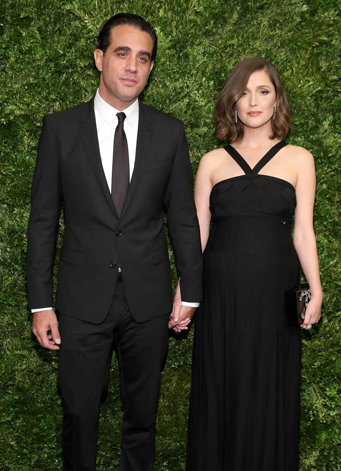 """**Rose Byrne and Bobby Cannavale** <br><br> The Australian actress met her long-time actor beau (they're not married) on the set of the modern remake of *Annie* the musical in 2012. They've since had two sons, Rocco and Rafa, together. In 2013, Cannavale publicly confirmed their rumoured relationship in the sweetest possible way, by thanking Byrne in his acceptance speech for his Emmy win for *Boardwalk Empire*, saying: """"And I want to thank the love of my life, Rose."""""""