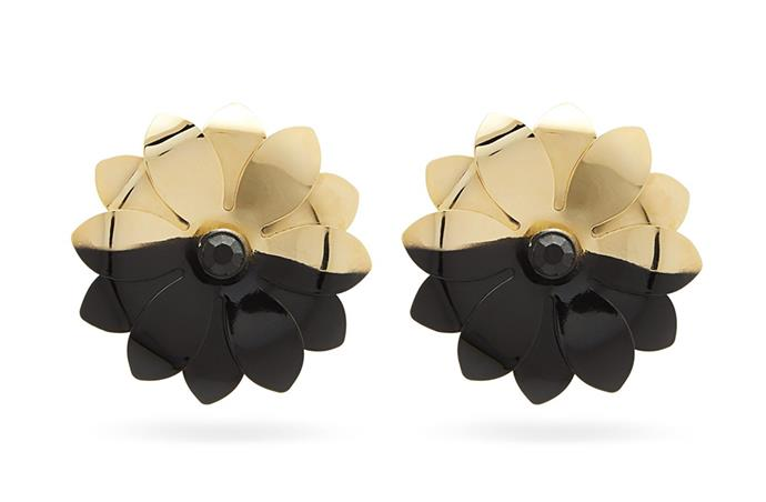 "Earrings by Marine Serre, $362 at [MATCHESFASHION.COM](https://www.matchesfashion.com/au/products/Marine-Serre-Upcycled-flower-shaped-metal-clip-earrings--1273316|target=""_blank""