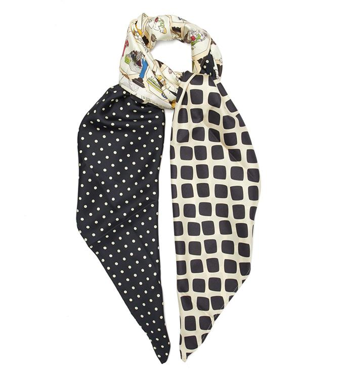 "Scarf by La Prestic Ouiston, $416 at [MATCHESFASHION.COM](https://www.matchesfashion.com/au/products/La-Prestic-Ouiston-Patchwork-print-silk-scarf-1271571|target=""_blank""