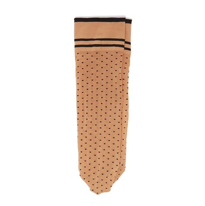 "Socks by Wolford, $27 at [MATCHESFASHION.COM](https://www.matchesfashion.com/au/products/Wolford-Hula-Hoop-polka-dot-ankle-socks-1260449|target=""_blank""